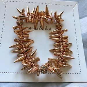 Stella and Dot Renegade rose gold bracelet